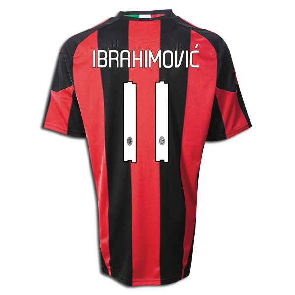 quality design 42ad7 770ca 10/11 Ac Milan #11 Ibrahimovic Home Jersey Shirt High Qualty