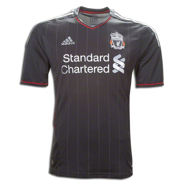 purchase cheap 1760d 38365 11/12 Liverpool Black Away Soccer Jersey Shirt Replica