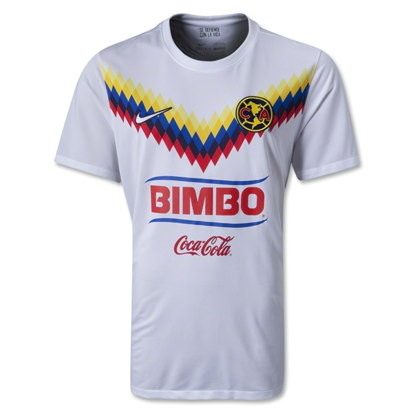 new styles 698ba 54928 13-14 Club America Away White Jersey Shirt(Play Model)