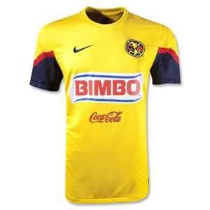 fc3cbe8b2 12 13 Club America Aguilas Home Yellow Soccer Jersey Shirt Replica ...