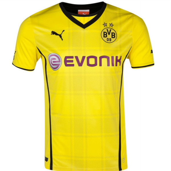 new concept bc262 53cd8 13-14 Borussia Dortmund #9 LEWANDOWSKI Home Jersey Shirt