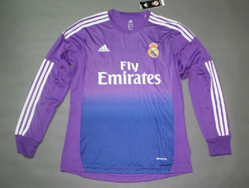 best service 90705 e7df8 13-14 Real Madrid Goalkeeper Purple Long Sleeve Shirt