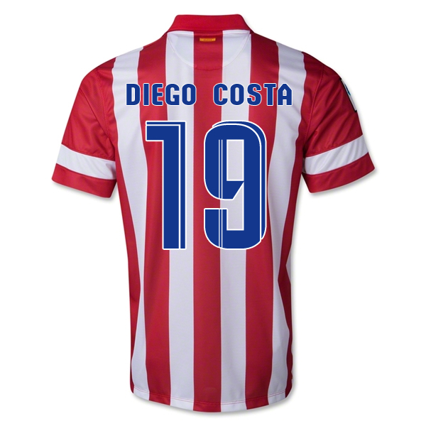 low cost 68361 0e33d 13-14 Atletico Madrid #19 Diego Costa Home Soccer Jersey Shirt