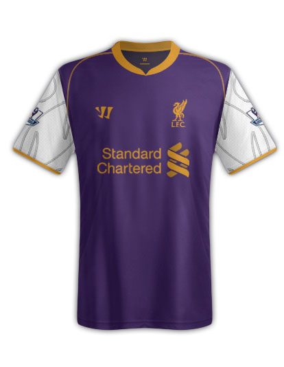 timeless design ed9cc d023d 12-13 Liverpool Away Purple Soccer Jersey Kit(Shirt+Short)