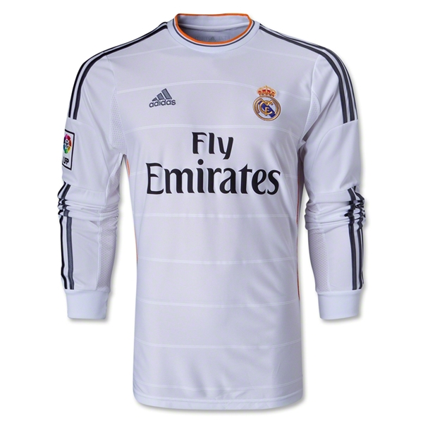 huge discount d4f35 08f1a 13-14 Real Madrid #4 SERGIO RAMOS Home Long Sleeve Jersey Shirt