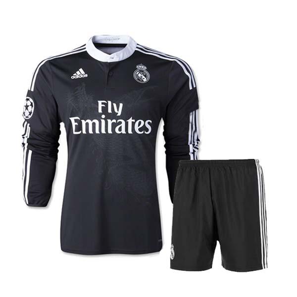a6c0f20642c ... store 14 15 real madrid away black long sleeve jersey kitshirtshort  4fab4 4c579
