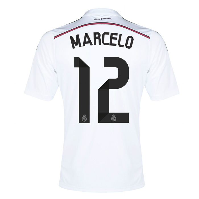 official photos cbf62 5bd1e 14-15 Real Madrid Marcelo #12 Home Jersey Shirt