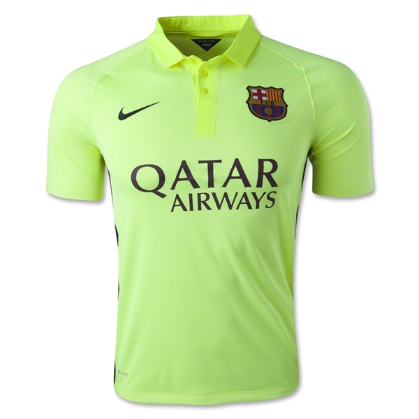 official photos dbdef 76827 14-15 Barcelona Pedro #7 Away Third Green Soccer Jersey Shirt