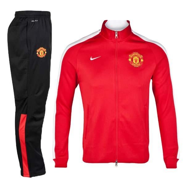 info for d8334 238bd 2014 Manchester United N98 Red&White Track Kit(Jacket+Trouser)