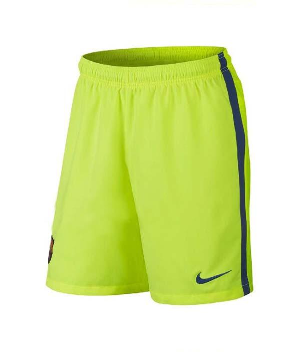 cbb379aa9 14-15 Barcelona Away Long Sleeve Third Green Jersey Shirt Kit(Shirt+Short)