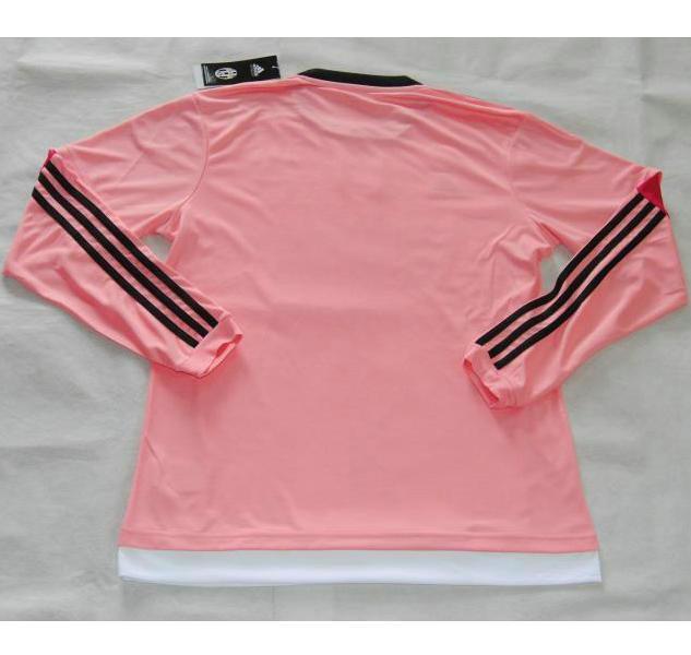 47c295197b8b 15-16 Juventus Away Pink Long Sleeve Jersey Shirt