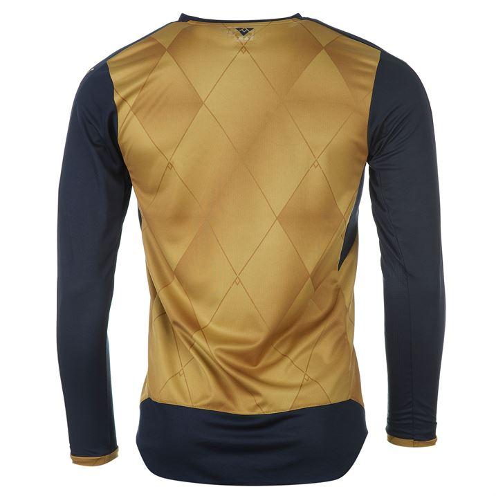 19acc9ba7 15-16 Arsenal Away Golden Long Sleeve Jersey Kit(Shirt+Short ...