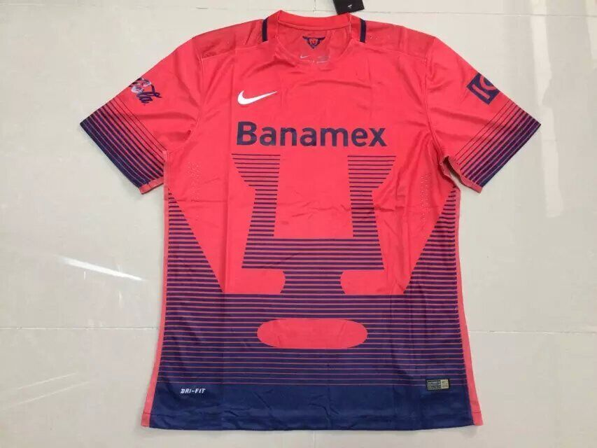 huge selection of f7396 938b3 15-16 UNAM Pumas Away Red Jersey Shirt