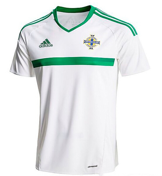 the best attitude ee91f 0973a 2016 Northern Ireland Away White Jersey Shirt