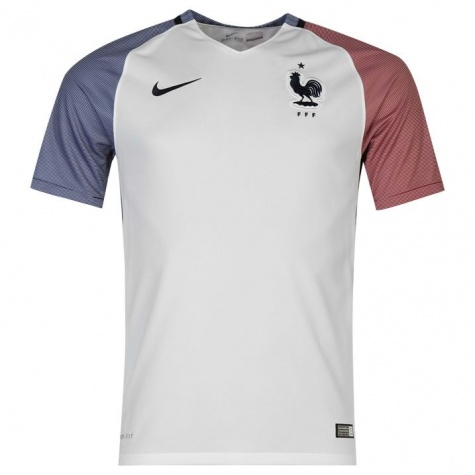 7feb8155c 2016 France Away White Soccer Jersey Shirt