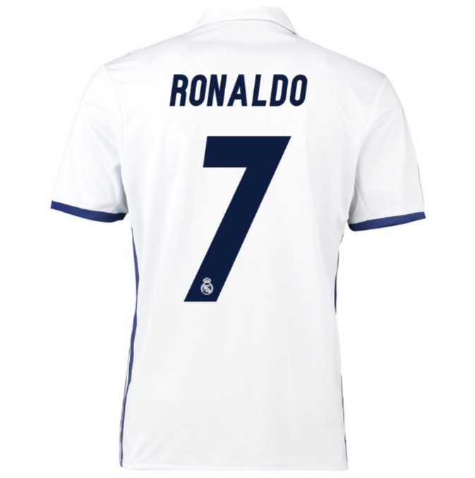 4df8fc0d7 ... Real Madrid Home Ronaldo  7 Soccer Jersey Shirt. 50%. Price    78.99   38.99. SALE! €0.00 €0.00