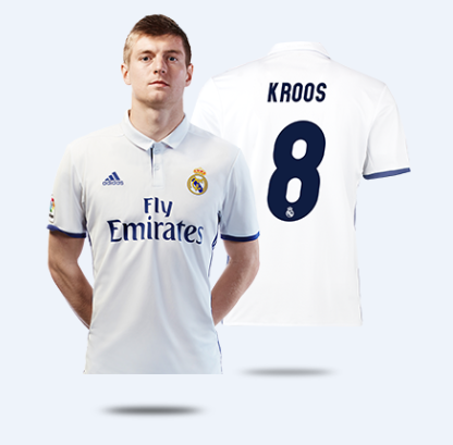 the latest 61bc2 3cb80 16-17 Real Madrid Home Kroos #8 Soccer Jersey Shirt