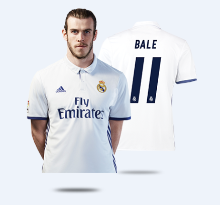 reputable site dcebb 46c39 16-17 Real Madrid Home Bale #11 Soccer Jersey Shirt
