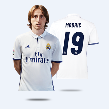 competitive price a0721 cb8d5 16-17 Real Madrid Home Modric #19 Soccer Jersey Shirt