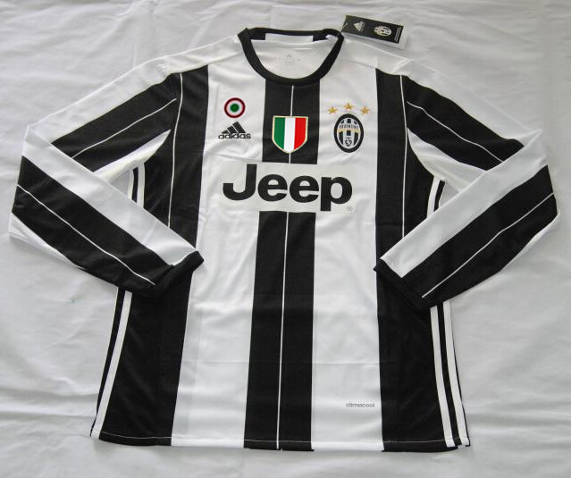 new style 70506 99b68 16-17 Juventus Home Long Sleeve Soccer Jersey Shirt