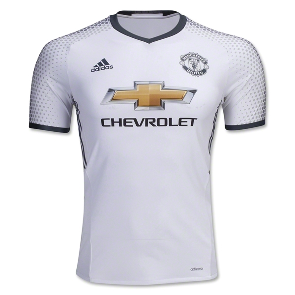 new styles 0b1ac 7ff5b 16-17 Manchester United Third Away White Jersey Shirt(Player Version)