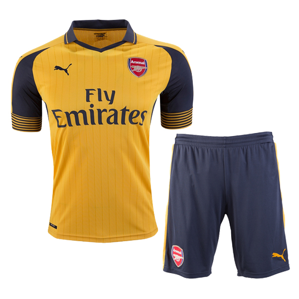 1de7e56ac 16-17 Arsenal Away Yellow Soccer Jersey (Shirt+Short) | Arsenal ...
