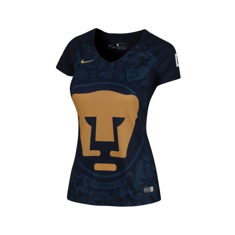 new product d0f2e f9ba9 16-17 UNAM Pumas Away Navy Women's Jersey Shirt