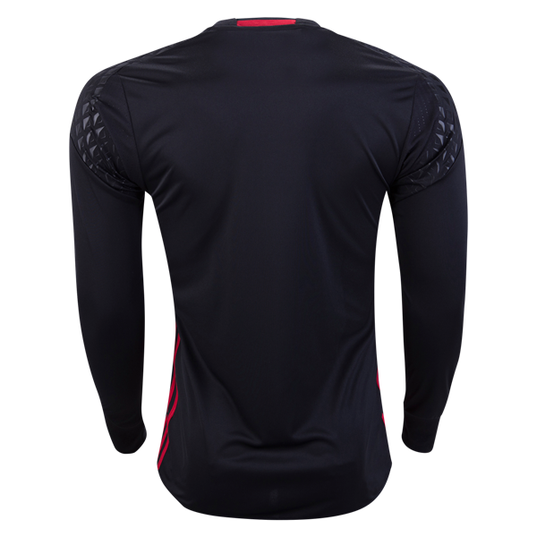 de3e7408da1 16-17 Manchester United Goalkeeper Black Long Sleeve Jersey Shirt ...