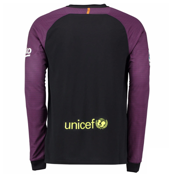buy popular 7ec50 37459 16-17 Barcelona Goalkeeper Black&Purple Long Sleeve Jersey Shirt