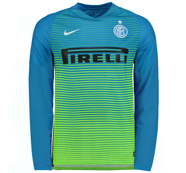 abbae93a5 16-17 Inter Milan Third Away Blue Long Sleeve Jersey Shirt picture and  image 1