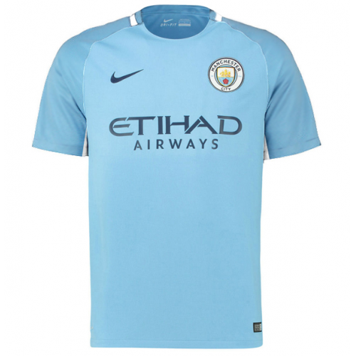 new styles 867e4 85861 17-18 Manchester City Home Jersey Shirt