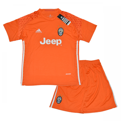 new product 634f3 92e27 16-17 Juventus Goalkeeper Orange Children's Jersey Kit(Shirt+Short)