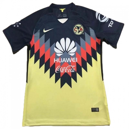 5496a88c1 17-18 Club America Home Yellow Soccer Jersey Shirt