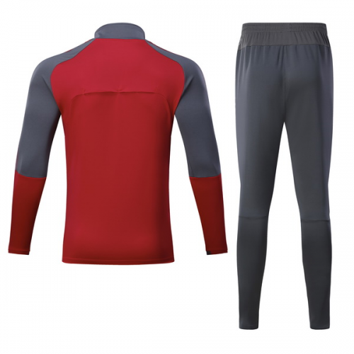 pretty nice 2b29c 2f583 17-18 Arsenal Red Training Kit(Half Zipper Shirt+Trousers)