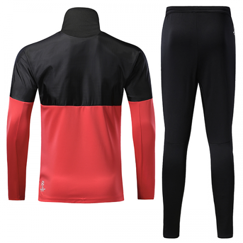 buy online 57a06 8478e 17-18 Manchester United Champion League Black&Red Training Kit(Turtleneck  Shirt+Trousers)