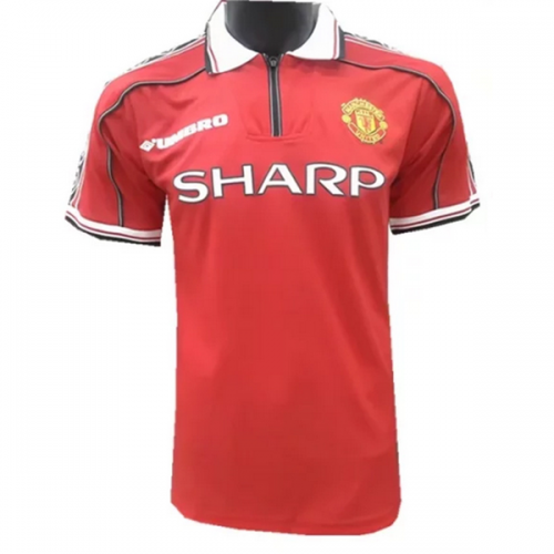 476904caffd 98-99 Manchester United Home Retro Jersey Shirt picture and image 1
