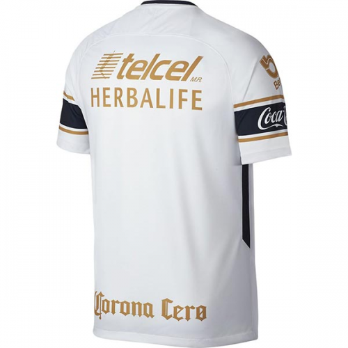 low priced d7ef1 46855 17-18 UNAM Pumas Away White Soccer Jersey Shirt
