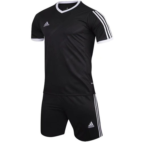 9882cd707d12f1 1601 Customize Team Black Soccer Jersey Kit(Shirt+Short) picture and image 1