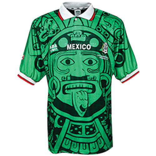 c4540dce5 1998 Mexico Retro Home Green Soccer Jersey Shirt