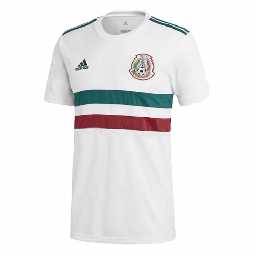 promo code 5cd21 6cdc5 2018 World Cup Mexico Away White Soccer Jersey Shirt