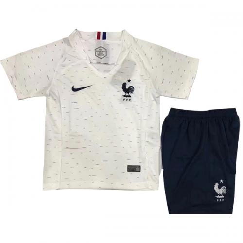 online store 97654 70fcf 2018 World Cup France Away White Children's Jersey Kit(Shirt+Short)