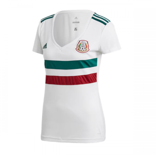 70cdb23f 2018 World Cup Mexico Away White Women's Jersey Shirt