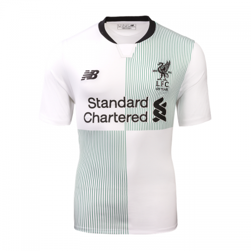 big sale 44fb3 1f8ff Liverpool 17-18 UCL Style Printing #10 COUTINHO Away White Soccer Jersey  Shirt