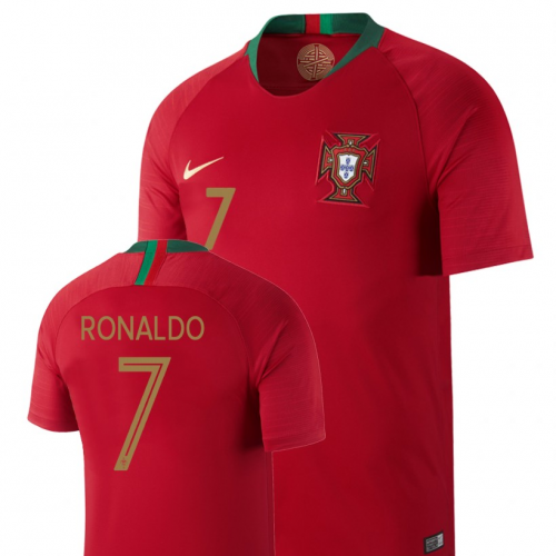 best website b17be 8fa67 2018 World Cup Portugal #7 RONALDO Home Red Jersey Shirt