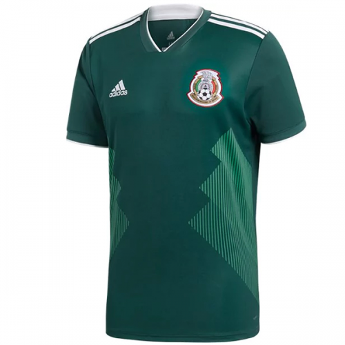 2018 World Cup Mexico Authentic Home Green Soccer Jersey Shirt ... 2a9f9bda7
