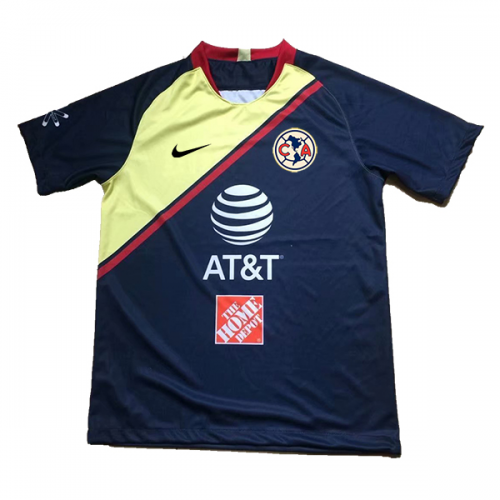 uk availability 899ff a8520 18-19 Club America Away Navy&Yellow Soccer Jersey Shirt
