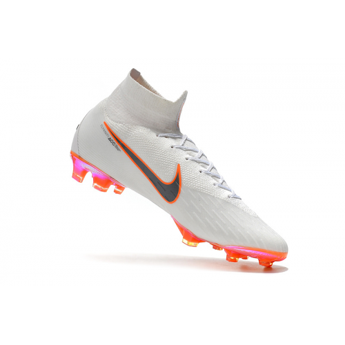 finest selection f967e ed31b NK Mercurial Superfly VI 360 Elite FG Soccer Cleats-White
