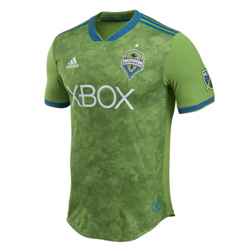 finest selection b49ca b6a07 2018 Seattle Sounders Authentic Home Green Soccer Jersey Shirt