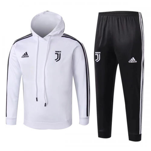 newest e1ec0 c8af9 Kids 18-19 Juventus White Hoody Sweat Shirt Kit(Top+Trouser)