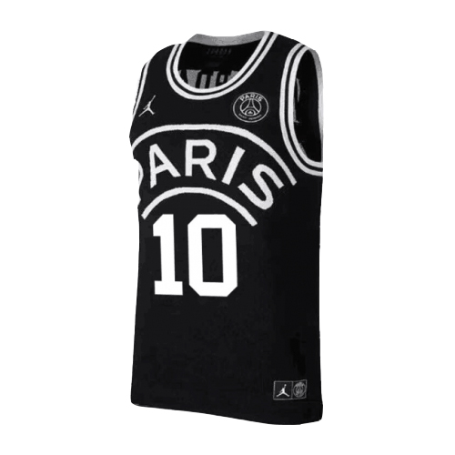 finest selection be015 9d944 PSG×JORDAN Neymar Jr #10 Black Basketball Jersey Shirt